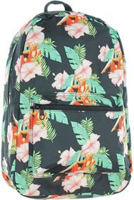 """Bioworld Marilyn Monroe Hibiscus Flowers All Over Print 18"""" Backpack, School Bag"""