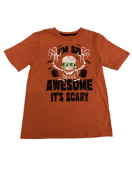"""Boys Orange """"I'm So Awesome It's Scary"""" Halloween T-Shirt Top"""