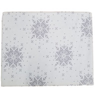 Bee & Willow Gray Fair Isle Snowflake Twin Flannel Sheet Set, Bed Sheets