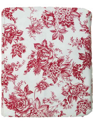 Bee & Willow Red Floral Toile Twin Flannel Sheet Set, Bed Sheets