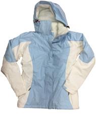 Womens Blue & Cream Lightweight Soft Shell Jacket Activewear Coat X-Small 2-4