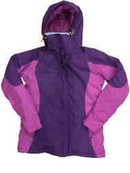 Womens Magenta & Purple Lightweight Soft Shell Jacket Activewear Coat X-Small 2-4