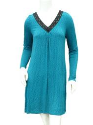 APT 9 Womens Teal Green Polka Dot Sleep Shirt Jersey Knit Nightgown Nightie XS