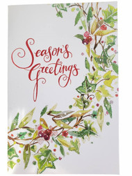 14 Count Season's Greetings Glitter Sparkle Christmas Holiday Cards w/Envelopes