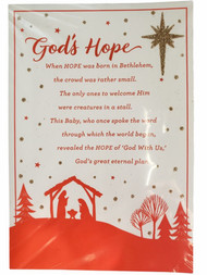 14 Count God's Hope Glitter Christmas Holiday Inspirational Cards w/Envelopes