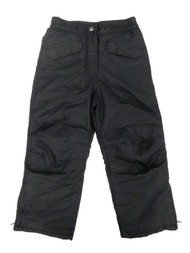 Girls Black Water/Wind Resistant Insulated Ski Snow Pants