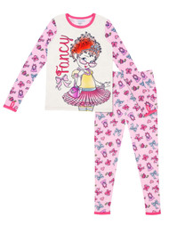 Cuddl Duds Climate Right Girls Fancy Nancy Pink Thermal Underwear Base Layer
