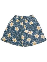 Mens Breakwater Blue Hawaiian Tropical Flower Board Shorts Swim Trunks