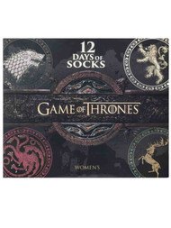 Game of Thrones Womens 12 Pair Days of Socks Advent Boxed Set OSFM