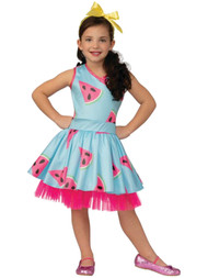 BOXY GIRL Girls Blue Watermelon Brooklyn Halloween Costume Dress S 4-6