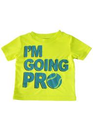 Baby Boys Neon Yellow I'm Going Pro Activewear Sport T-Shirt Tee Shirt 12M