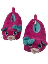 Build A Bear Toddler Girls Pink Kitty Cat Slippers Kitten House Shoes