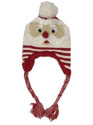 Mens Santa Claus Christmas Holiday Pom Peruvian Trapper Hat