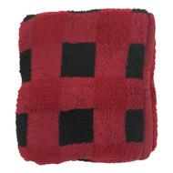 Better Homes & Gardens Sherpa Fleece Red Buffalo Plaid Plush Throw Blanket