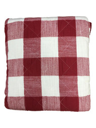 Bee & Willow Red Buffalo Check Plaid Full Queen Quilt & Shams Bed Set, 3 Piece