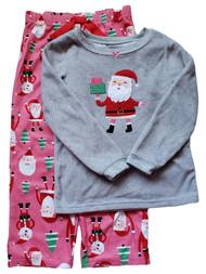 Carters Girl Santa Claus Christmas Xmas Holiday 2 Pc Pajama Set PJ Sleepwear