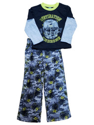 Boys Black Destination Endzone Shirt Flannel Camo Pant 2 Piece Pajama PJ Set