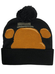 5 Nights At Freddys Adult Mens & Womens Black Freddie Beanie Stocking Cap Hat