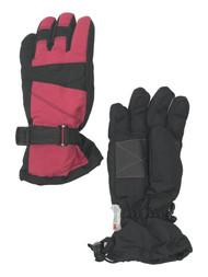 Girls Pink & Black Thinsulate Ski & Snow Winter Gloves
