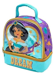 Disney Aladdin Jasmine Dual Compartment Lunch Bag - Insulated Kids Lunchbox