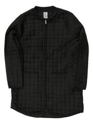 Womens Lightweight Black Quilted Coat Long Insulated Athletic Jacket