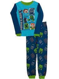 Boys Blue Minecraft Baselayer Set Mine Craft Thermal Underwear Long Johns 10