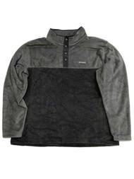 Columbia Mens 2-Tone Gray Polar Fleece Jacket