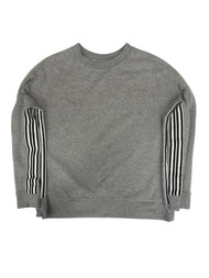 Avia Womens Gray & Black Stripe Athletic Sweatshirt Sweat Shirt XXL (20)