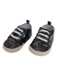 Carters Infant Boys Black Alphabet Bear Pre-Walk Crib Shoe Baby Shoes