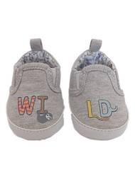 Carters Infant Boys Gray Wild Sloth Pre-Walk Crib Shoe Baby Shoes NB