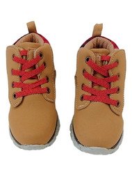 Toddler Boys Tan & Read Plaid Work & Hiking Boots Shoes