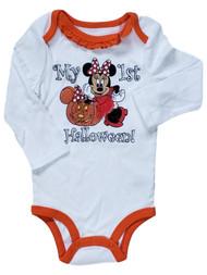 Disney Baby Girls My First Halloween Minnie Mouse Glitter Romper Bodysuit