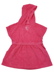 Toddler Girls Pink Hooded Hoodie Terry Swim Swimming Suit Cover Up Dress 3T