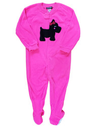Joe Boxer Toddler Hot Pink Dog Pup Fleece Bodysuit Sleep PJ Pajama 24 Months
