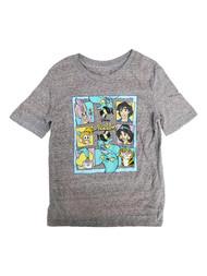 Disney Aladdin Boys Gray Short Sleeve Jasmine & Abu Tee Shirt T-Shirt