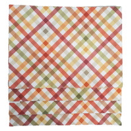 Autumn Gingham Check Harvest Print Placemat Set Of 4, Earth Tones Placemats