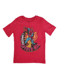 Amazing Spider-Man Boys Red Short Sleeve Spider Web Tee Shirt T-Shirt