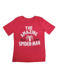 Amazing Spider-Man Boys Red Short Sleeve Marvel Comics Tee Shirt T-Shirt 4