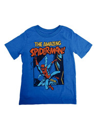 Amazing Spider-Man Boys Blue Short Sleeve Spider Man Tee Shirt T-Shirt