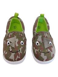 Infant & Toddler Boys Green Camo Dinosaur Critter Sneaker Casual Shoes