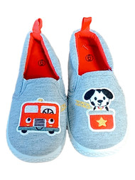 Infant & Toddler Boys Gray Fire Truck Dalmatian Puppy Dog Sneaker Casual Shoes