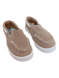 Toddler Boys Khaki Slip-On Boat Shoe Casual Loafer Kids Shoes