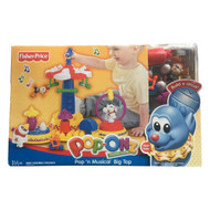 Fisher-Price Pop-Onz Pop 'n Musical Big Top Building System Circus Toy