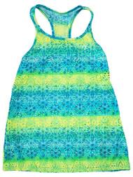 Angel Beach Girls Neon Blue & Green Mesh Racerback Summer Swim Suit Cover Up
