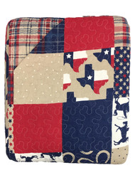 C&F Home Texas Dalton Full Queen Bed Quilt - Red & Blue Country Patchwork