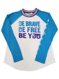 Disney Frozen Junior Womens Be Brave... Long Sleeve T-Shirt Tee Shirt M(7-9)