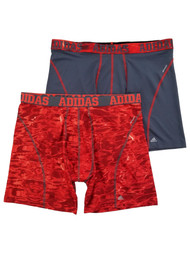 Adidas Mens 2-Pack Red & Gray ClimaCool Performance Underwear Boxer Brief XL