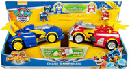 Paw Patrol Mighty Super Pups Marshall and Chase Powered Up 2 Vehicle Set