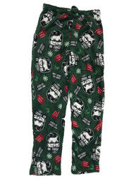 A Christmas Story Mens Green Fleece Ralphie Sleep Pants Pajama Bottoms