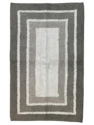 Sonoma Shades of Gray Border Stripe Plush Pile Bath Rug, 17x24 Cotton Bath Mat